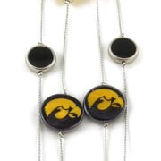 Iowa Hawkeye Charm Necklace
