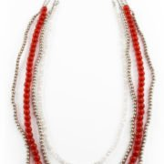 UW Red and White Bagers Necklace