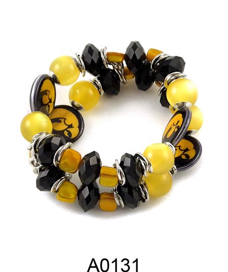 Hawkeye Tel Necklace University Of Iowa Bracelet