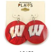 University of Wisconsin W Earrings