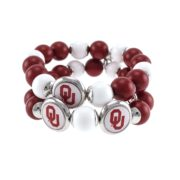 University of Oklahoma 2 Row Logo w Bead Stretch